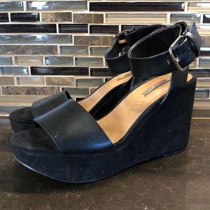 Zara trafaluc wedge angle strap sandals 37